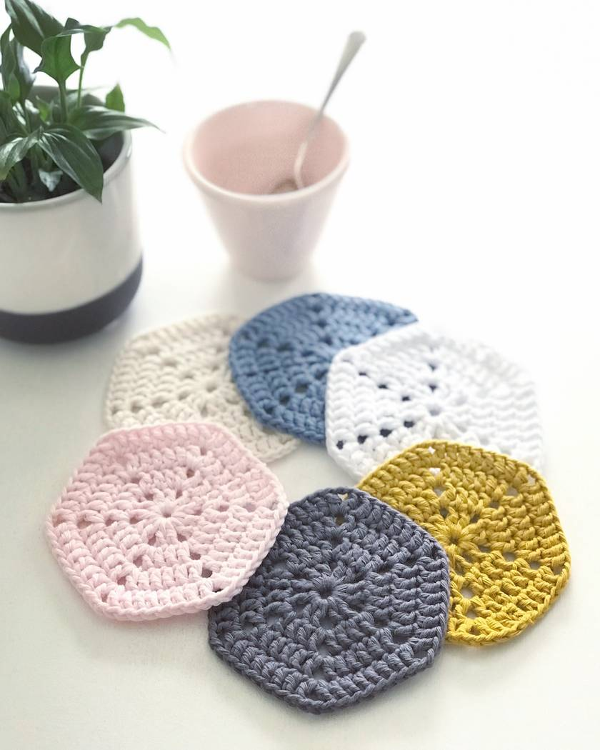 Scandi Cotton Coasters - Set of 6