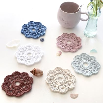 Coastal Cotton Coasters - Set of 6