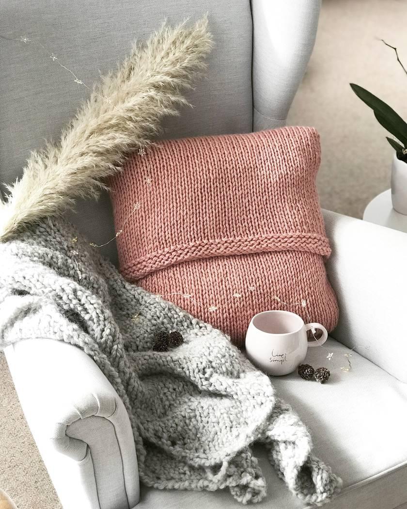 Luxury Merino/Alpaca Cushion Cover - Antique Rose Pink