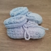 Baby Blue booties- Bubbles