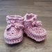 Aunty D's Sheepskin booties- Dusty Pink