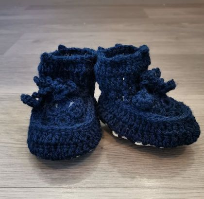 Aunty D's Sheepskin booties- navy
