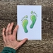 Footprints Greenstone / Pounamu Drawing A5 Print