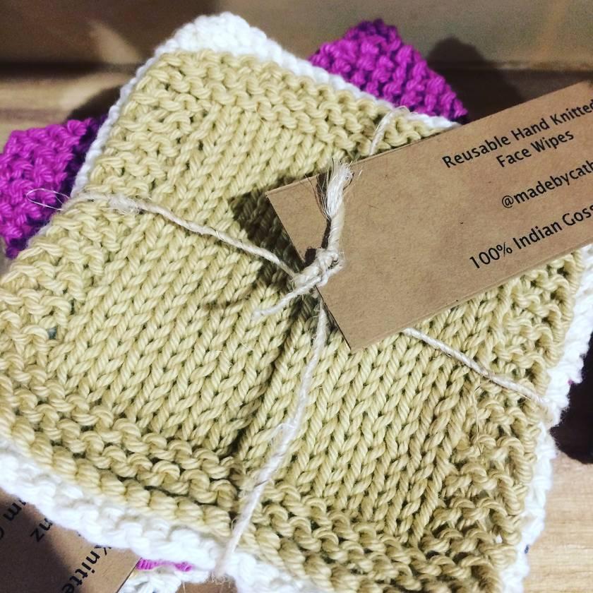 Sale!!  100% Gossypium Indian Cotton Reuseable Facewipes
