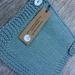 Handknitted Gossypium Cotton Baby Bib