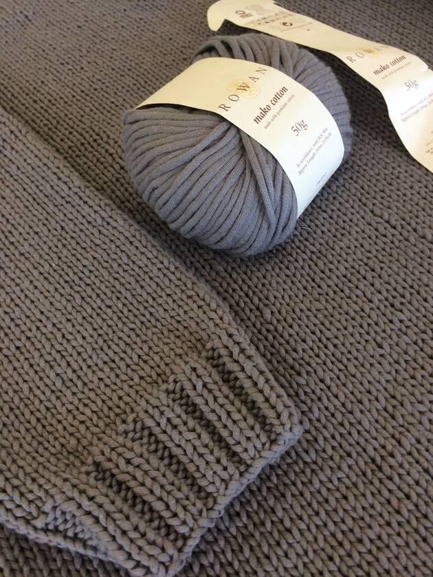 Woman's Large Knitted Jumper - Rowan Mako Cotton