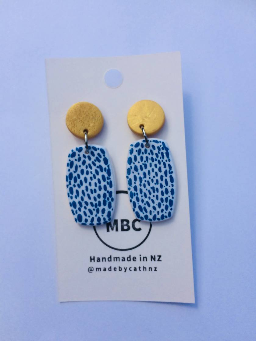NEW - MBC Abstract Range Dangles - Handmade in New Zealand