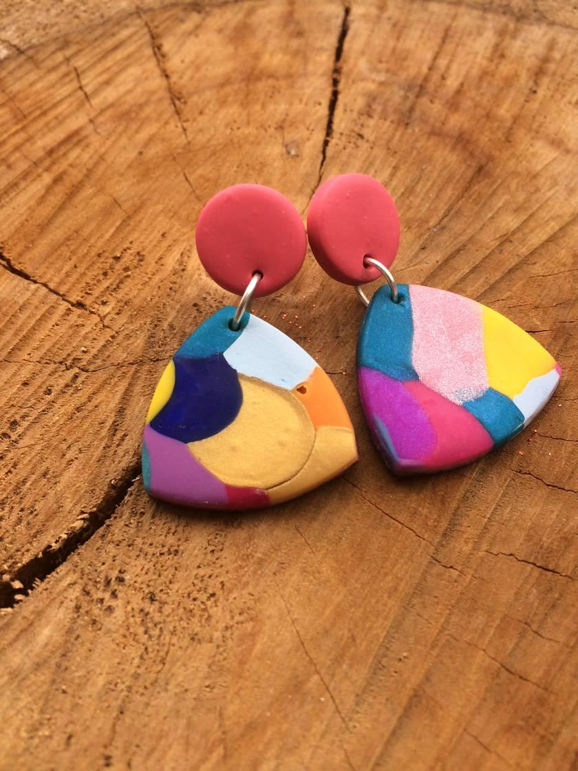 NEW - Rainbow Mesh Dangles - Handmade in New Zealand