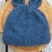 Hand Knitted NZ Merino Bear Beanie - Size Baby
