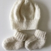 Hand Knitted Merino Hat & Booties Sets