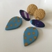 Polymer Clay - Forget Fall Dangles - Handmade in New Zealand