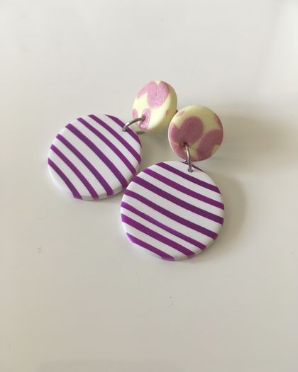 Polymer Clay - Forget Fall Dangles - Handmade Polymerclay Earrings