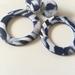 Polymer Clay - B&W Big Circle Dangles - Handmade in NZ