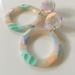 Polymer Clay - Mid Summer's Mix Up - Pastel Days Dangles - Handmade in New Zealand
