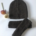 Sale - Knitted South Island Pure Wool Hat & Arm Warmers - Handmade In NZ