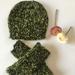 Sale - Knitted Peruvian Alpaca Hat & Arm Warmers - Handmade In NZ
