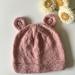 Hand Knitted NZ Merino Bear Beanie - Size Toddler