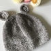 Sale - Hand Knitted NZ Merino Bear Beanie - Size Toddler