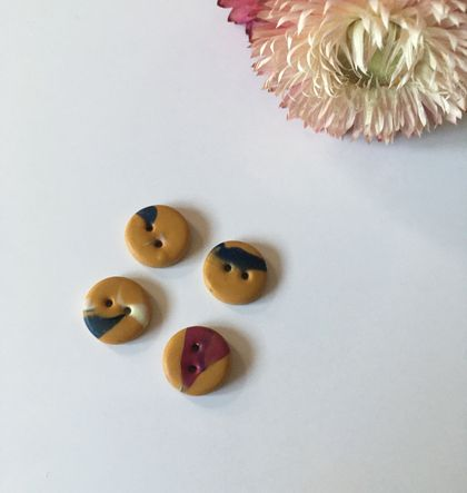 Polymer Clay Buttons - Handmade In NZ