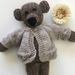 Brand New Cashmere/Merino - Belle The Bear - Hand Knitted In NZ