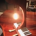 Upcycled Piano Parts Table Lamp