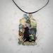 Black Cat In The Paua Bottle Necklace