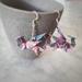 Origami Dragon Earrings (purple)