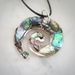 Paua Shell Spiral Necklace