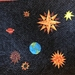 Earth and stars quilt