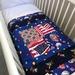 Bassinet quilt; star spangled