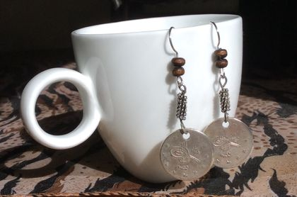 Ottoman empire coin earrings