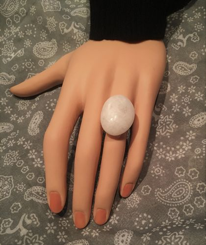 Sterling silver and natural stone ring
