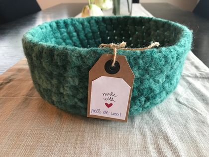 Felted wool Basket