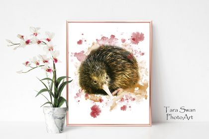 Watercolour Kiwi 11 x 14 Print