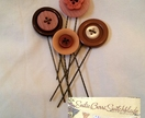 Vintage Button Hair Pins (pack of 4)
