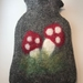 Toadstool hot water bottle cover