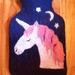 Midnight unicorn hot water bottle cover