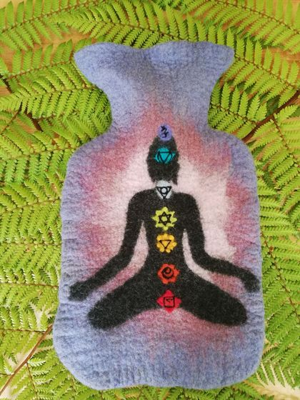 Chakra Yoga hot water bottle cover