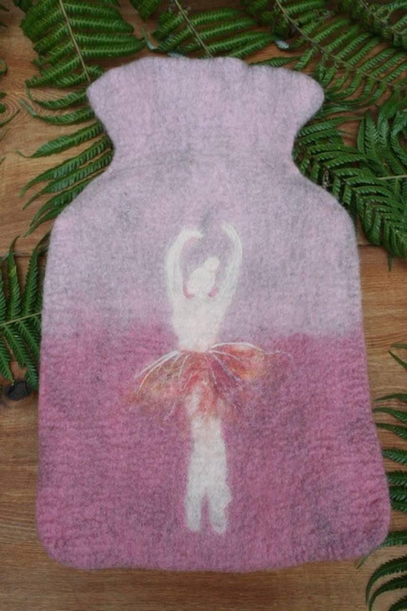 Ballerina hot water bottle cover