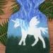 Flying Unicorn hot water bottle cover
