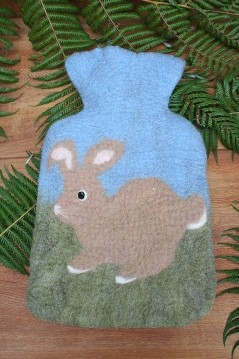 Rabbit hot water bottle cover