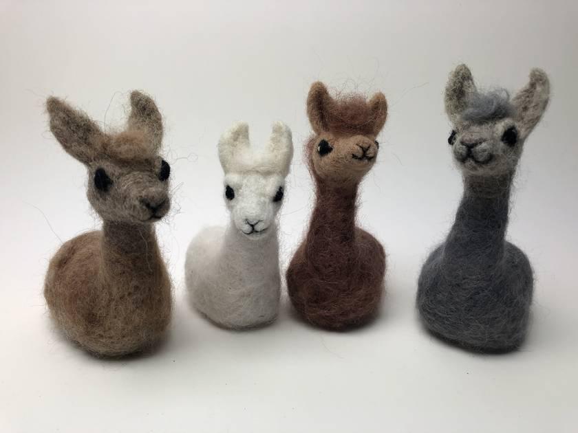 Needle felted llama