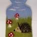 Hedgehog hot water bottle cover