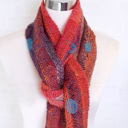 Fine wool scarf in amazing color blends.