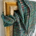 Warm and warm merino silk teal, green and pink scarf