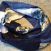 'Hope' 100% linen & repurposed cotton infinity scarf or 'linny