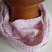 'Candy' stripe 100% linen infinity scarf or 'linny