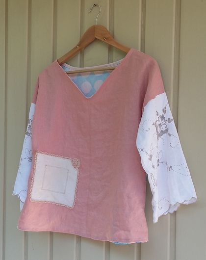 Reversible Linen and Japanese cotton Linny-T  Small