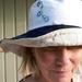 Linen reversible womens' bucket hat