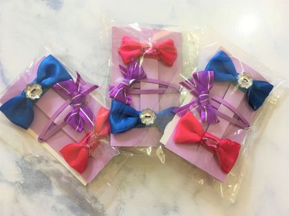 X3 Sets of Hair Bow Clips